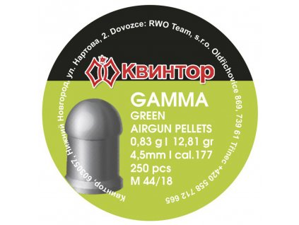 Diabolo Kvintor Gamma Green cal.4,5mm 250ks