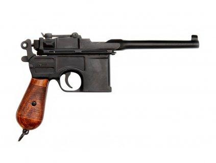 Automatická pistole C 96, 7.63 mm Německo 1896 lakovaná dřevěná pažba