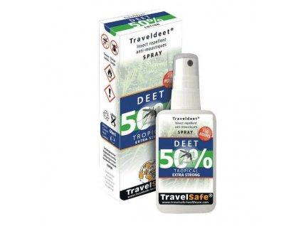 Repelent proti hmyzu 50% DEET Traveldeet