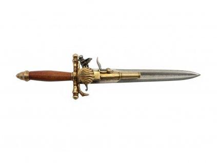 Pistole - dýka - Francie 18. století