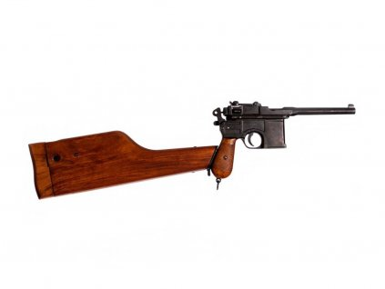 Pistole Mauser C96 s pažbou