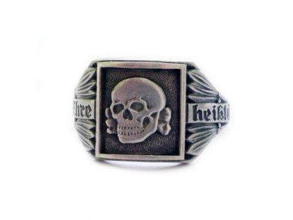 silver german skull ring