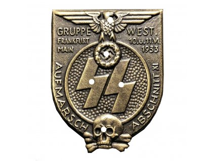 ss gruppe west abschnitt xi frankfurt am main rally badge