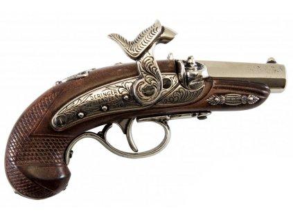 denix Percussion Philadelphia Deringer pistol USA 1862 (5)