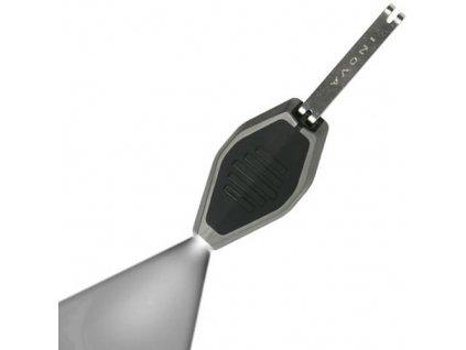 Svítilna MICRO/klíčenka černá LED BÍLÁ