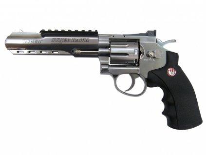 "Airsoft Revolver Ruger SuperHawk 6"" nikl AGCO2"