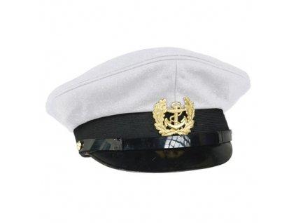 Čepice MARINE s odznakem BÍLÁ