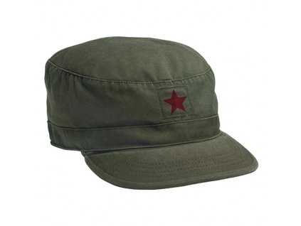 Čepice VINTAGE FATIGUE RED STAR ZELENÁ