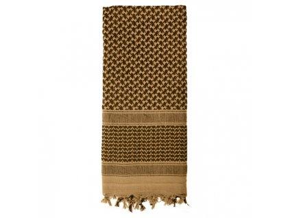 Šátek SHEMAGH odlehčený COYOTE 105 x 105 cm