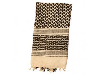Šátek SHEMAGH odlehčený KHAKI 105 x 105 cm