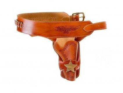 Kožené westernové pouzdro