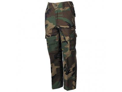 Kalhoty dětské maskáčové střih BDU WOODLAND