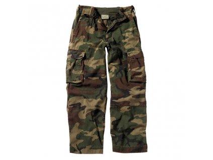 Kalhoty dětské VINTAGE PARATROOPER WOODLAND