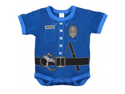 Body dětské POLICE UNIFORM MODRÉ