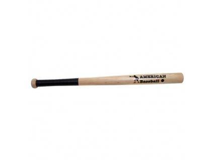 Pálka baseballová dřevo 66 cm NATUR