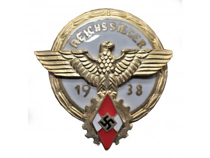 badge for the winner in the reichsberufswettkampf 1938