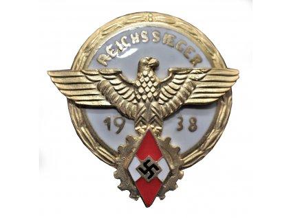 badge for the winner in the reichsberufswettkampf 1938