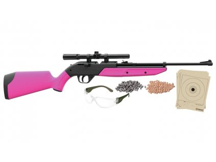 Vzduchovka Crosman Pumpmaster 760 SET 4,5mm růžová