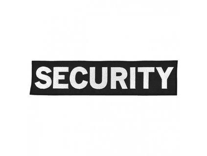 Nášivka SECURITY velká ČERNÁ s bílou nití VELCRO