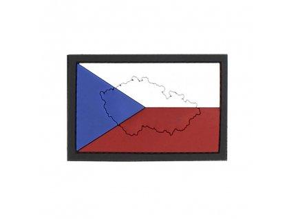 Nášivka 3D plastová vlajka ČR mapa