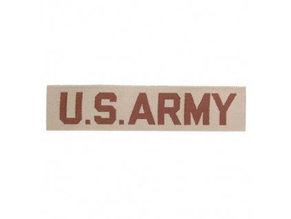 """Nášivka """"US ARMY"""" textil DESERT"""