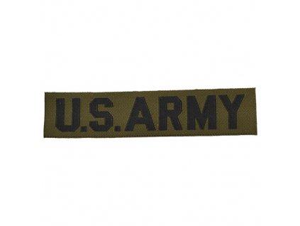 """Nášivka """"US ARMY"""" textil ZELENÁ"""