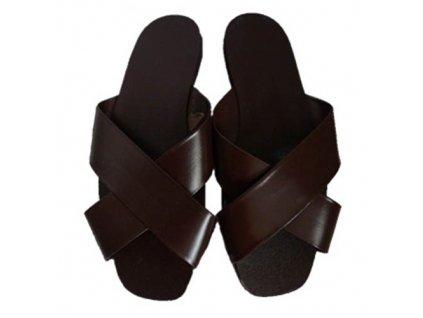 Pantofle trepky AČR HNĚDÉ