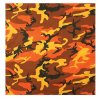 Šátek 55 x 55 cm SAVAGE ORANGE CAMO