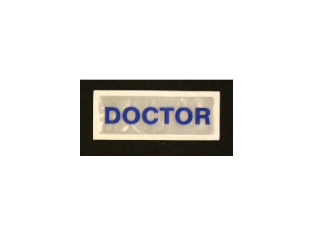 Reflexní nášivka DOCTOR 5x13cm