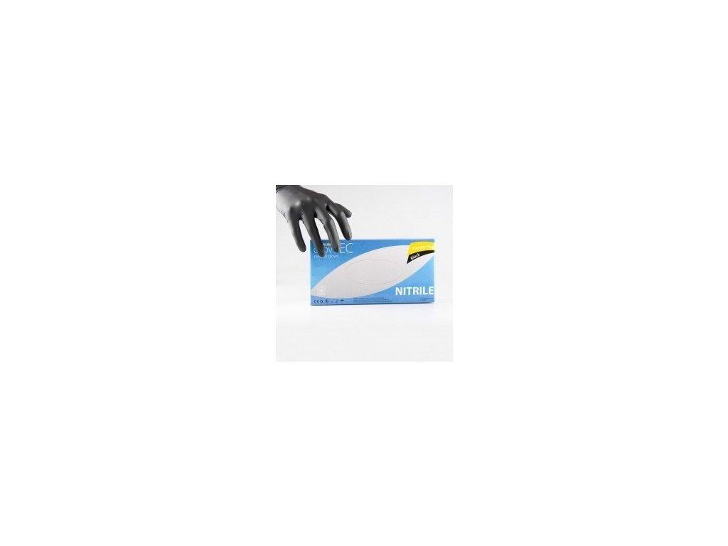 GLOVTEC - Rukavice Nitril Black