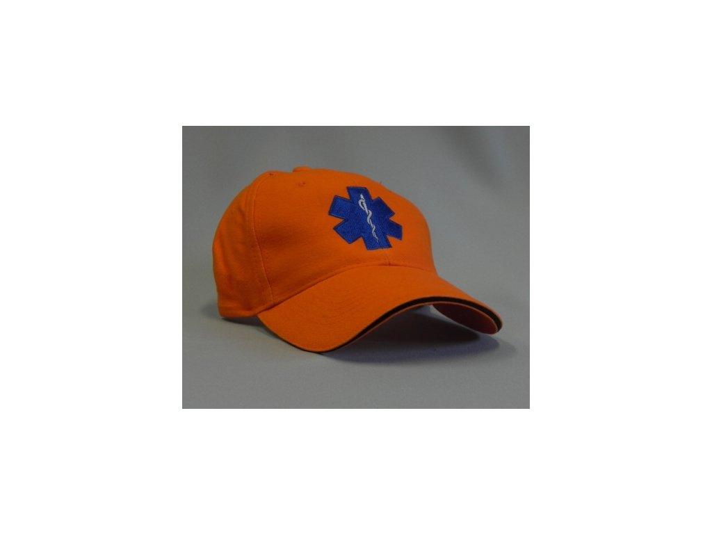Kšiltovka - hvězda života - oranžová