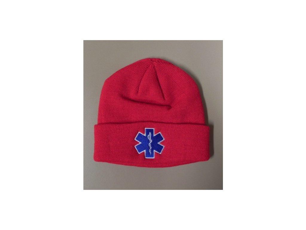 Čepice kulich - hvězda života - červená