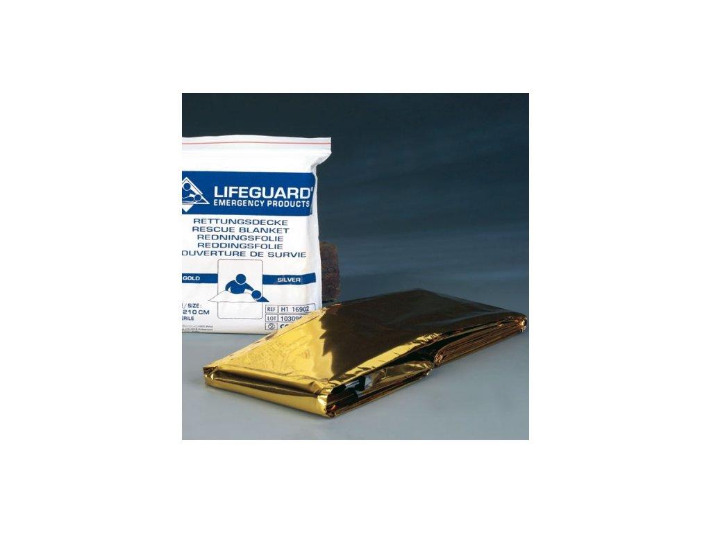 Izotermická folie LIFEGUARD - zlato-stříbrná