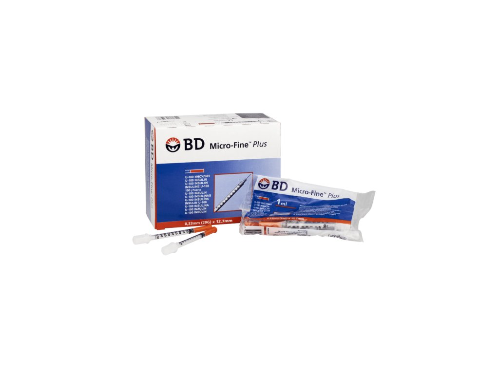 Inzulinová stříkačka BD Micro-Fine 100 I.U./1ML - 10ks