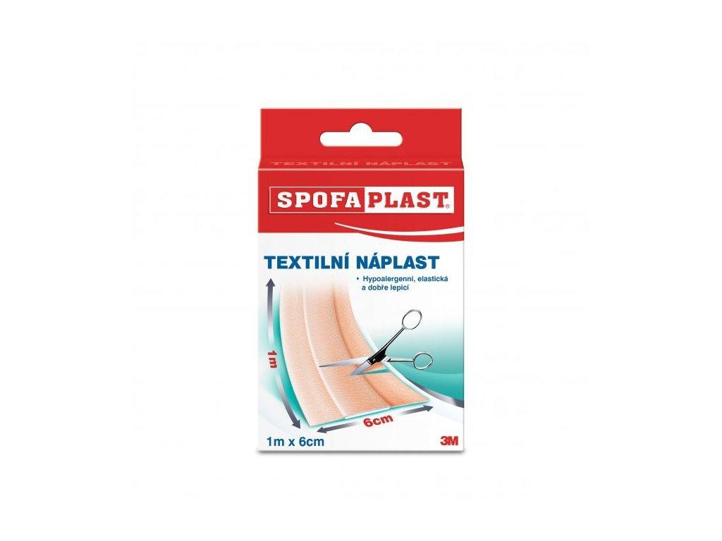 Spofaplast - Náplast textilní elastická 6cm x 1m