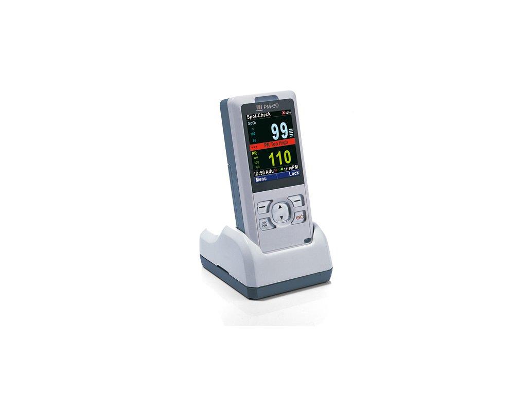 Nabíjecí stojánek a baterie pro Oxymetr PM 60