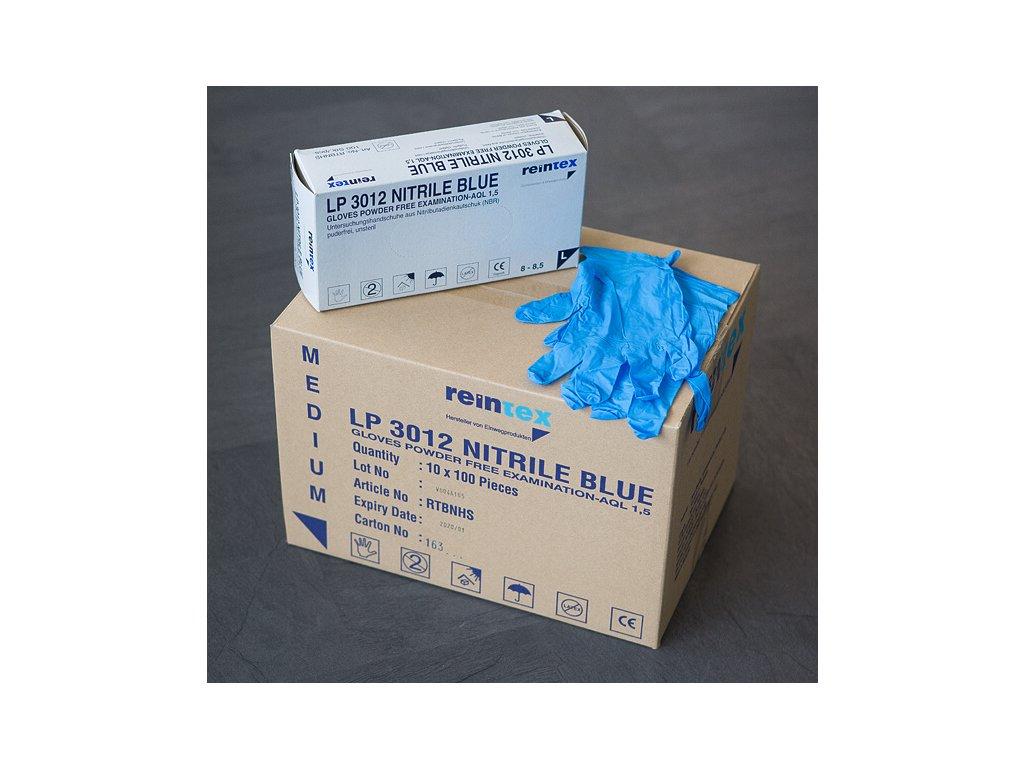 Vyšetřovací rukavice Nitril Blue - modré