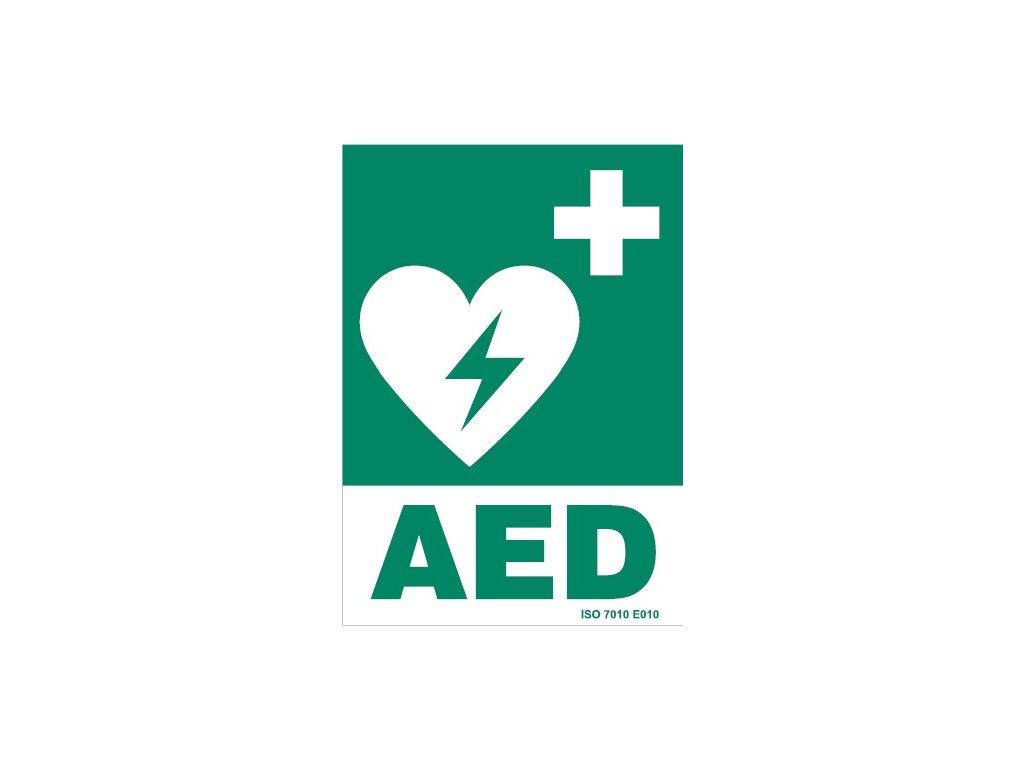 samolepka AED