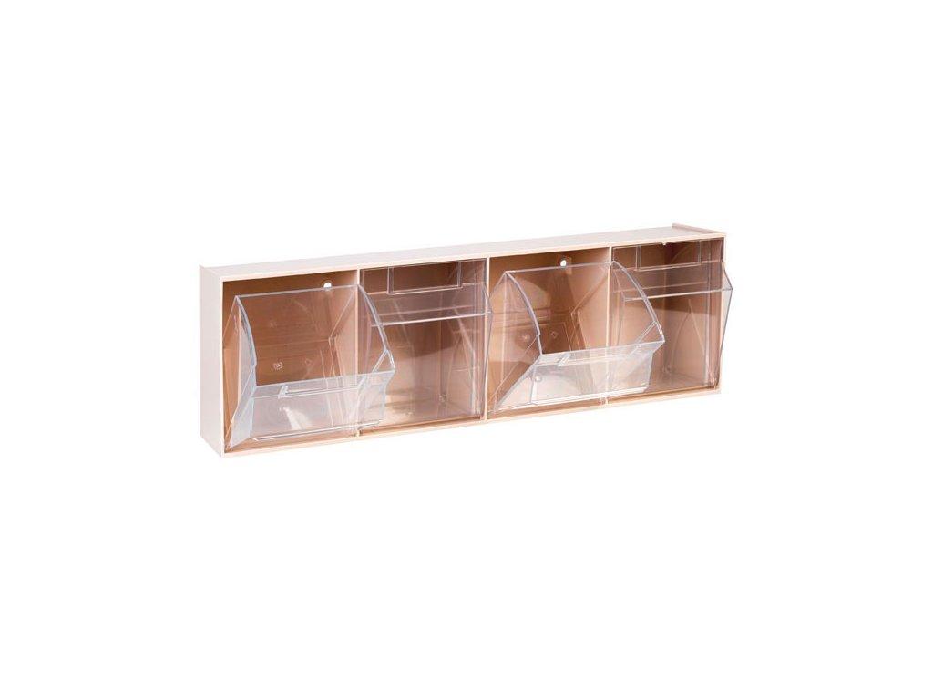 Úložné transparentí kontejnery - 4 oddíly