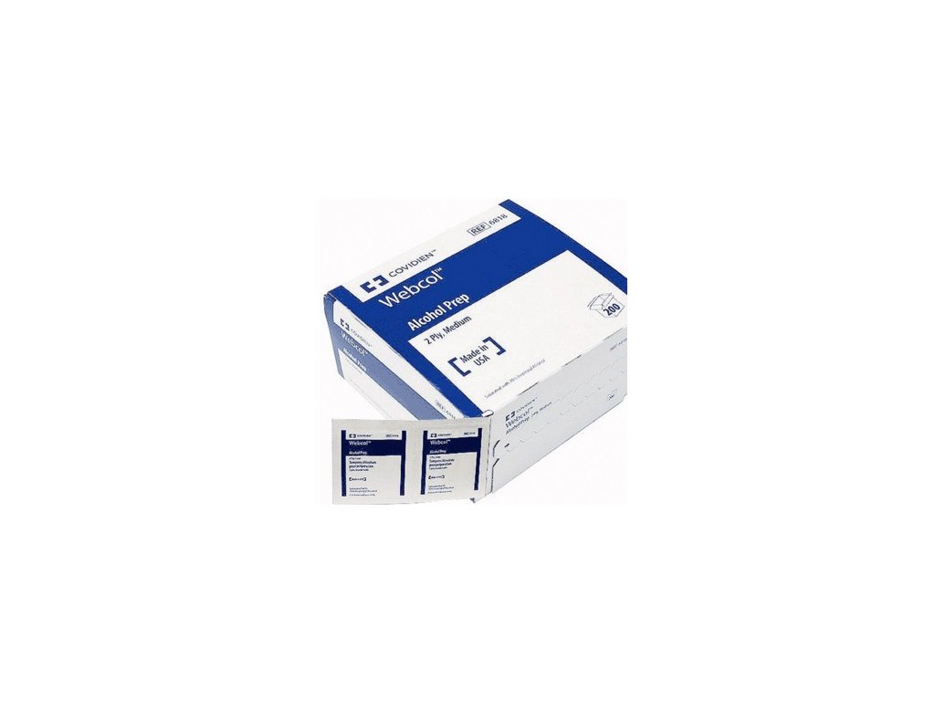 WEBCOL - sterilní tampon s dezinfekcí - 200ks