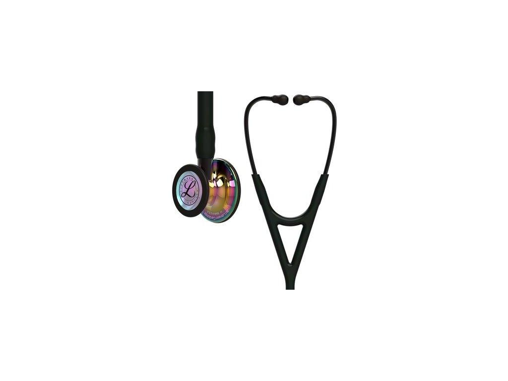 cardiology iv 6240 high polish rainbow finish black tube smoke stem and smoke headset