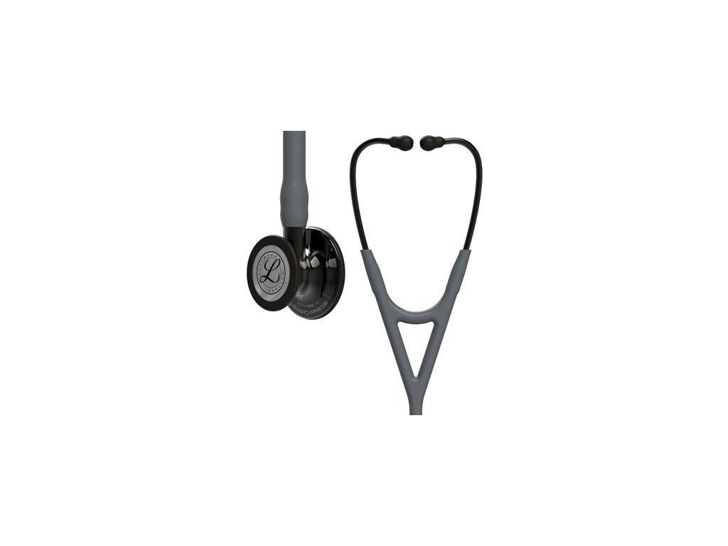 cardiology iv 6238 high polish smoke finish gray tube smoke stem and smoke headset