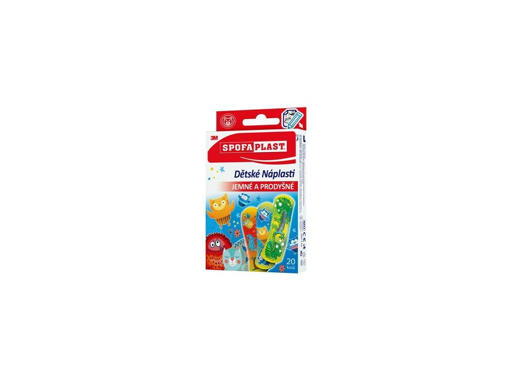 spofaplast 116 decorated bandages 72 mm x 25 mm 20 pack clip