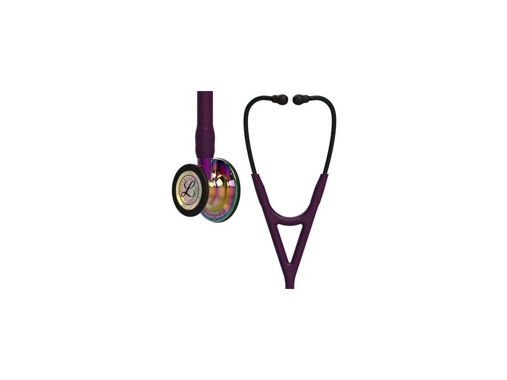 Fonendoskop Littmann Cardiology IV - švestková/duhová/zrcadlová/fialová