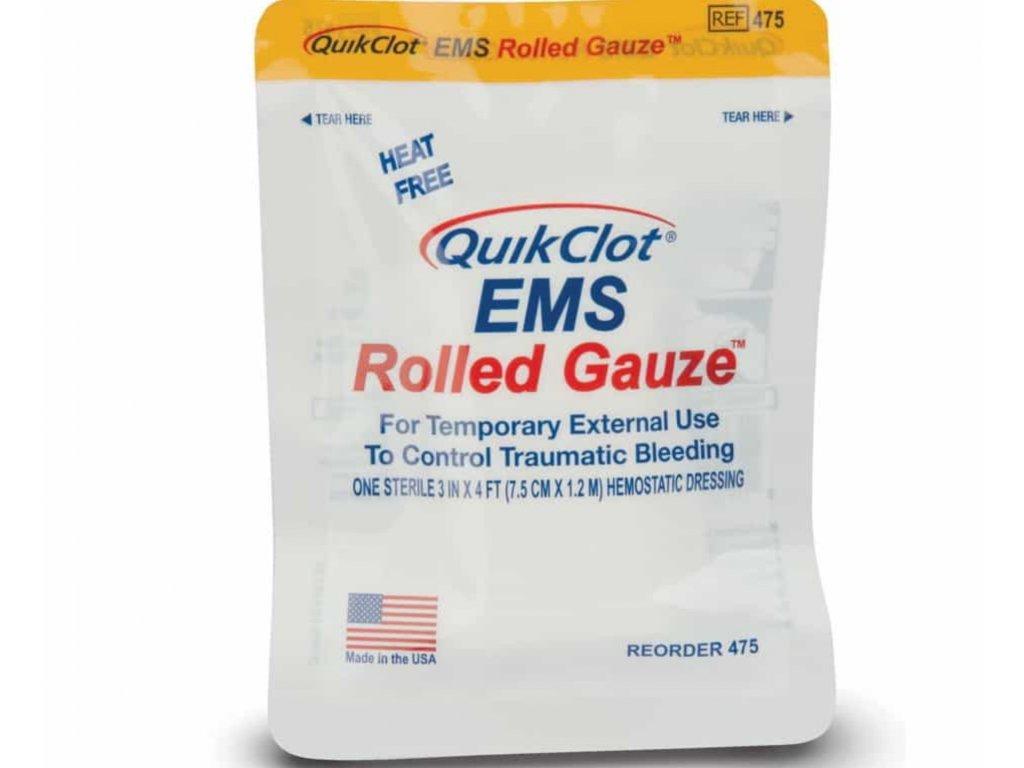 quikclot ems gauze rolled