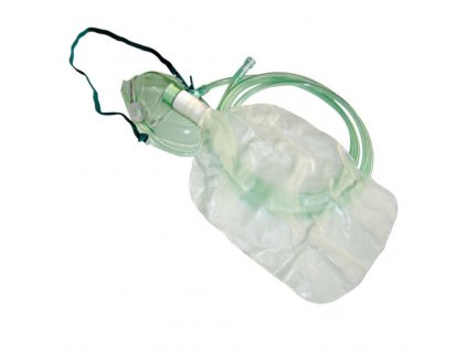 Kyslíková maska s koncetračním sáčkem