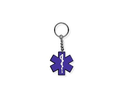 Přívěsek na klíče - Modrá Hvězda Života