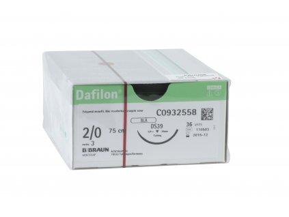 Šicí materiál Dafilon - nevstřebatelný - monofilní - modrý