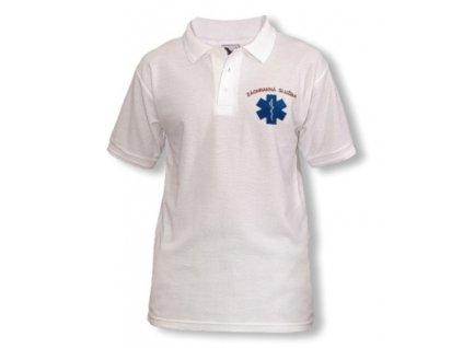 Polokošile Pique - Záchranná služba - bílá