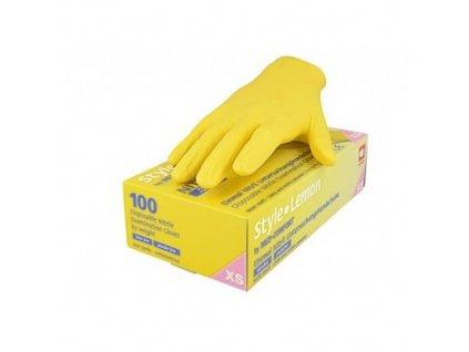STYLE - Nitrilové vyšetřovcí rukavice - LEMON